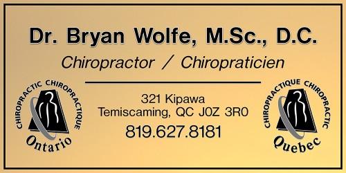 Bryan Wolfe, Chiropractor